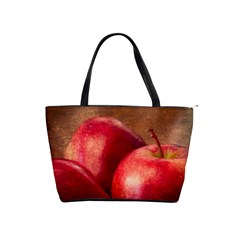 Three Red Apples Classic Shoulder Handbag by FunnyCow