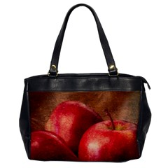 Three Red Apples Oversize Office Handbag by FunnyCow