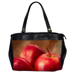 Three Red Apples Oversize Office Handbag (2 Sides) by FunnyCow