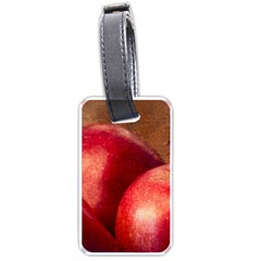 Three Red Apples Luggage Tags (one Side)  by FunnyCow