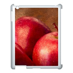 Three Red Apples Apple Ipad 3/4 Case (white) by FunnyCow
