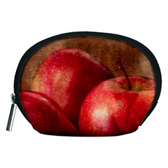 Three Red Apples Accessory Pouch (medium) by FunnyCow