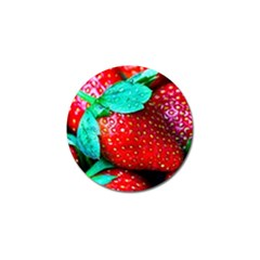 Red Strawberries Golf Ball Marker (10 Pack) by FunnyCow