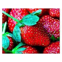 Red Strawberries Rectangular Jigsaw Puzzl by FunnyCow