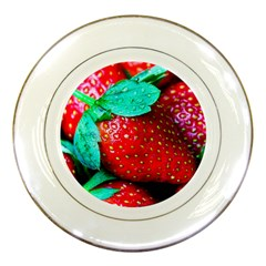 Red Strawberries Porcelain Plates by FunnyCow