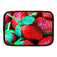 Red Strawberries Netbook Case (medium) by FunnyCow