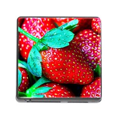 Red Strawberries Memory Card Reader (square 5 Slot) by FunnyCow