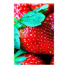 Red Strawberries Shower Curtain 48  X 72  (small)  by FunnyCow