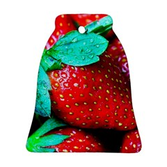Red Strawberries Ornament (bell) by FunnyCow
