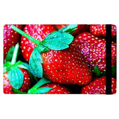 Red Strawberries Apple Ipad 2 Flip Case by FunnyCow