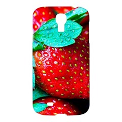Red Strawberries Samsung Galaxy S4 I9500/i9505 Hardshell Case by FunnyCow