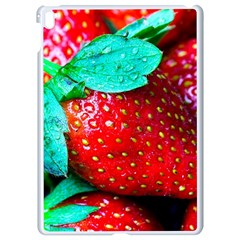 Red Strawberries Apple Ipad Pro 9 7   White Seamless Case by FunnyCow