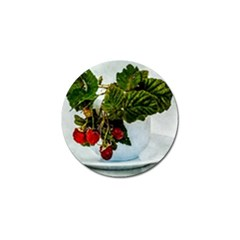Red Raspberries In A Teacup Golf Ball Marker (10 Pack) by FunnyCow