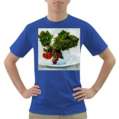Red Raspberries In A Teacup Dark T-shirt by FunnyCow