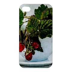 Red Raspberries In A Teacup Apple Iphone 4/4s Hardshell Case by FunnyCow