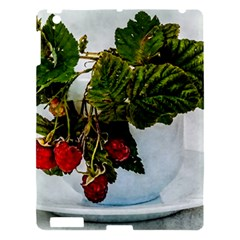Red Raspberries In A Teacup Apple Ipad 3/4 Hardshell Case by FunnyCow