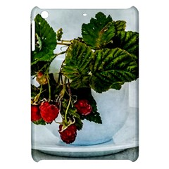 Red Raspberries In A Teacup Apple Ipad Mini Hardshell Case by FunnyCow