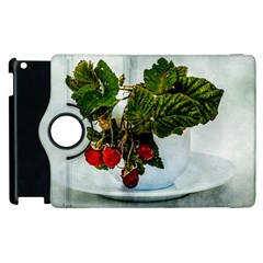 Red Raspberries In A Teacup Apple Ipad 3/4 Flip 360 Case by FunnyCow