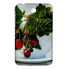 Red Raspberries In A Teacup Samsung Galaxy Tab 3 (7 ) P3200 Hardshell Case  by FunnyCow