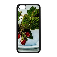 Red Raspberries In A Teacup Apple Iphone 5c Seamless Case (black) by FunnyCow