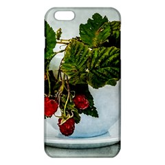 Red Raspberries In A Teacup Iphone 6 Plus/6s Plus Tpu Case by FunnyCow