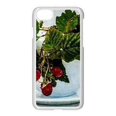 Red Raspberries In A Teacup Apple Iphone 7 Seamless Case (white) by FunnyCow