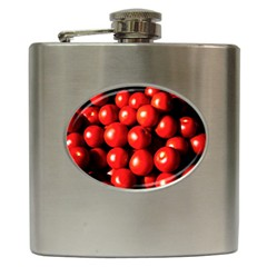 Pile Of Red Tomatoes Hip Flask (6 Oz) by FunnyCow