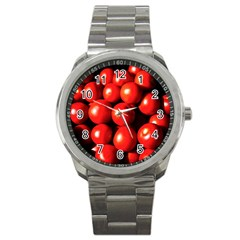 Pile Of Red Tomatoes Sport Metal Watch by FunnyCow