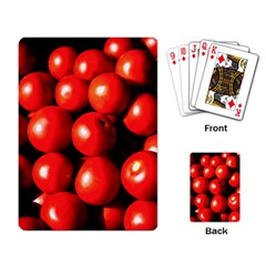 Pile Of Red Tomatoes Playing Card by FunnyCow