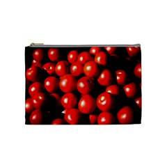 Pile Of Red Tomatoes Cosmetic Bag (medium) by FunnyCow