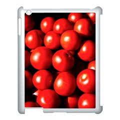 Pile Of Red Tomatoes Apple Ipad 3/4 Case (white) by FunnyCow
