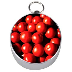 Pile Of Red Tomatoes Silver Compasses by FunnyCow