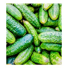 Pile Of Green Cucumbers Shower Curtain 66  X 72  (large)  by FunnyCow