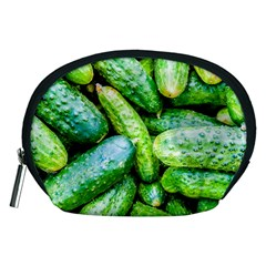 Pile Of Green Cucumbers Accessory Pouch (medium) by FunnyCow