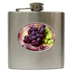 Red And Green Grapes Hip Flask (6 Oz) by FunnyCow
