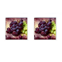 Red And Green Grapes Cufflinks (square) by FunnyCow