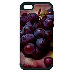 Red And Green Grapes Apple Iphone 5 Hardshell Case (pc+silicone) by FunnyCow