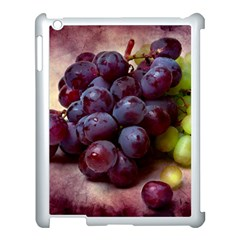 Red And Green Grapes Apple Ipad 3/4 Case (white) by FunnyCow