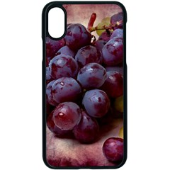 Red And Green Grapes Apple Iphone X Seamless Case (black) by FunnyCow
