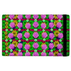 Roses And Other Flowers Love Harmony Apple Ipad 2 Flip Case by pepitasart