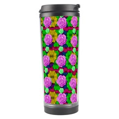 Roses And Other Flowers Love Harmony Travel Tumbler by pepitasart