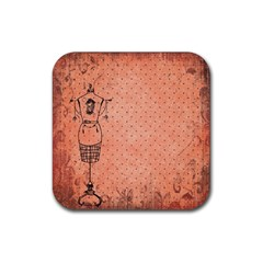 Body 1763255 1920 Rubber Square Coaster (4 Pack)  by vintage2030