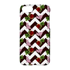 Cat Rose Chevron Apple Iphone 8 Hardshell Case by snowwhitegirl