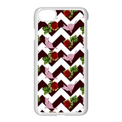 Cat Rose Chevron Apple Iphone 8 Seamless Case (white) by snowwhitegirl