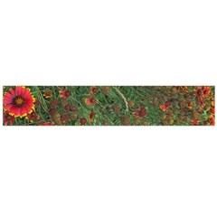 Orange Flower Garden Large Flano Scarf  by bloomingvinedesign