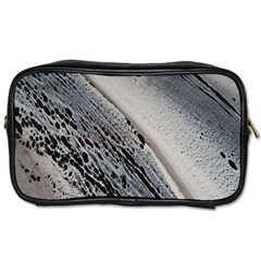 Black And White Toiletries Bag (one Side)