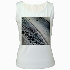 Black And White Women s White Tank Top by WILLBIRDWELL