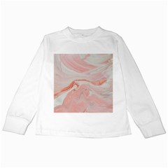 Pink Clouds Kids Long Sleeve T Shirts