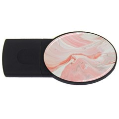 Pink Clouds Usb Flash Drive Oval (4 Gb)