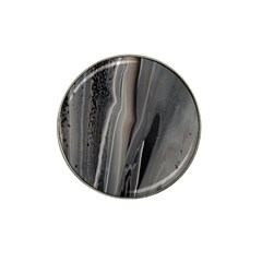Black Marble Hat Clip Ball Marker
